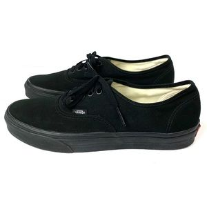 Vans the Authentic lace up sneaker in all black
